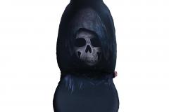Siyah Kuru Kafa Desen